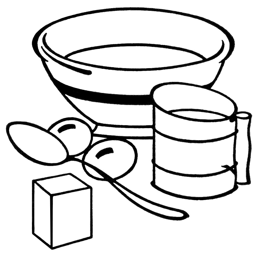 1053x1041 This Vintage Clipart Features Some Baking Equipment A Mixing Bowl