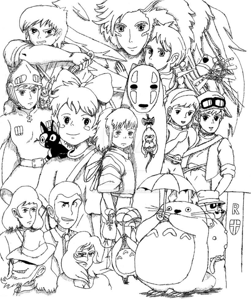 819x975 Miyazaki Collage By Vamptears101