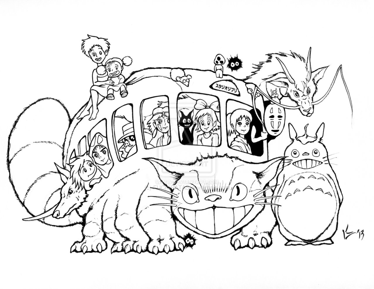 1280x989 Studio Ghibli Catbus For Aicn Contest
