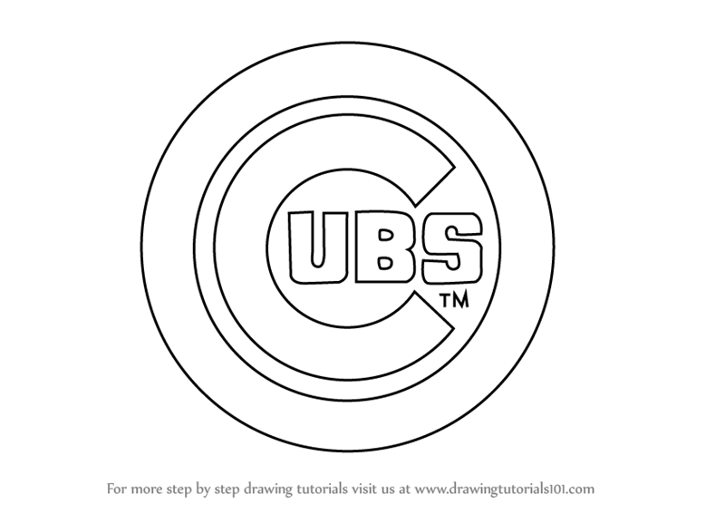 graphic regarding Printable Chicago Cubs Logo referred to as MBL Drawing at  Absolutely free for unique retain the services of MBL