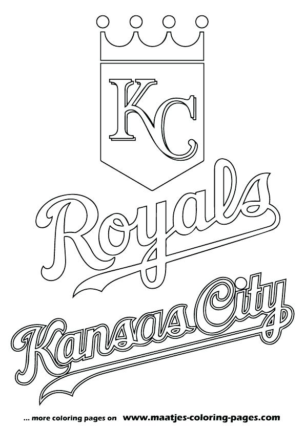 595x842 mlb coloring pages city royals logo coloring page from category
