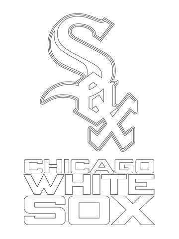 360x480 Chicago White Sox Logo Coloring Page Art Chicago