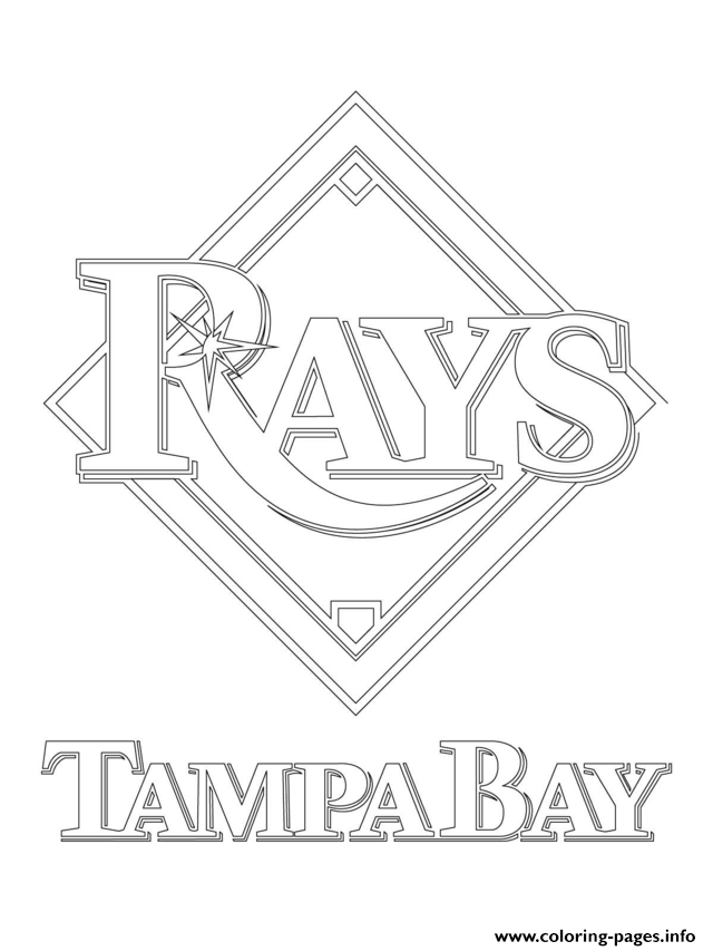 640x853 Tampa Bay Rays Logo Mlb Baseball Sport Coloring Pages Printable