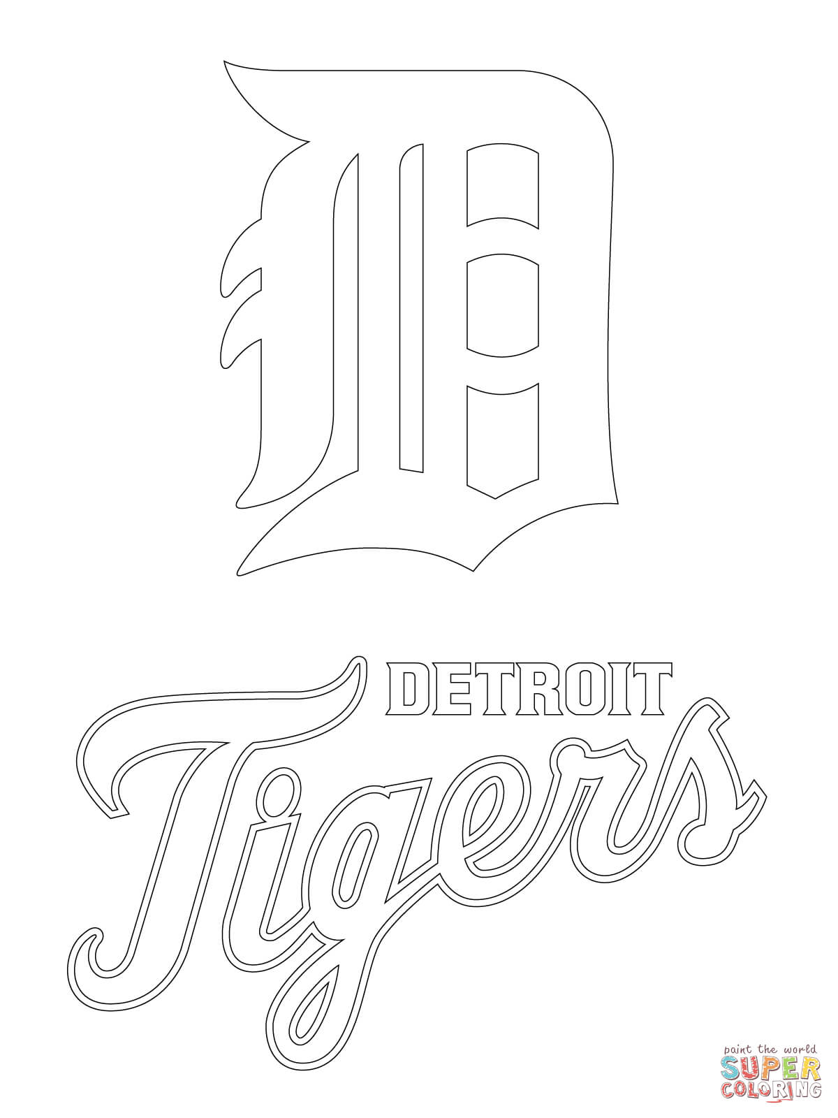 1200x1600 detroit tigers coloring pages free preschool in sweet page draw