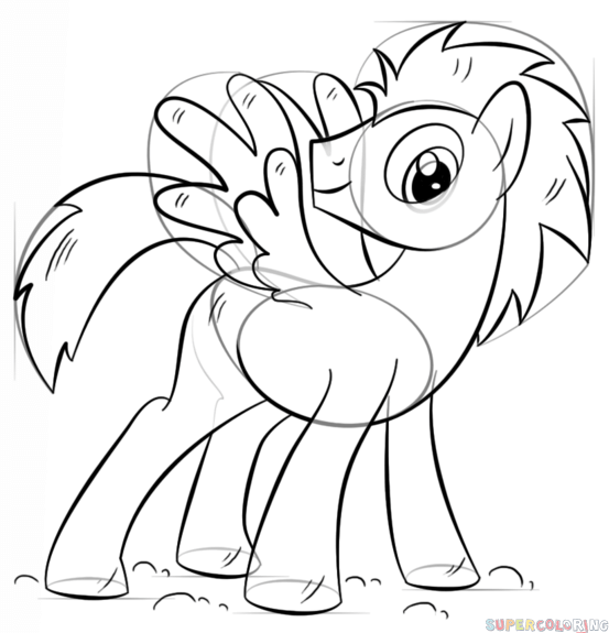 553x575 How To Draw My Little Pony Pegasus Step By Step Drawing Tutorials
