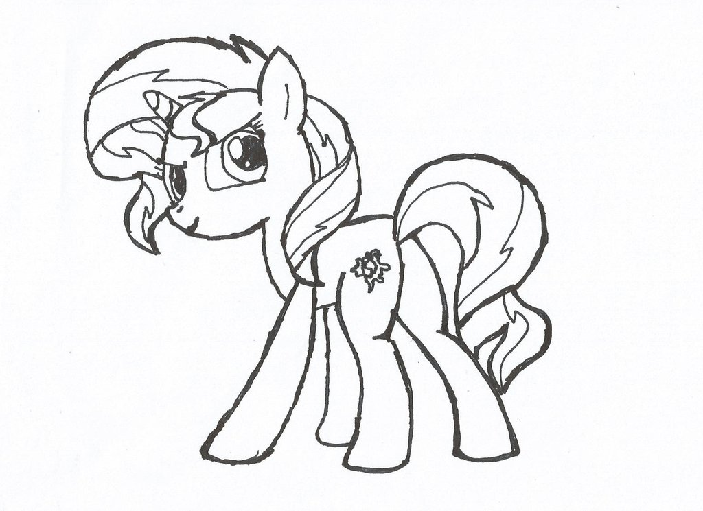 1024x745 My Little Pony Sunset Shimmer Coloring Pages