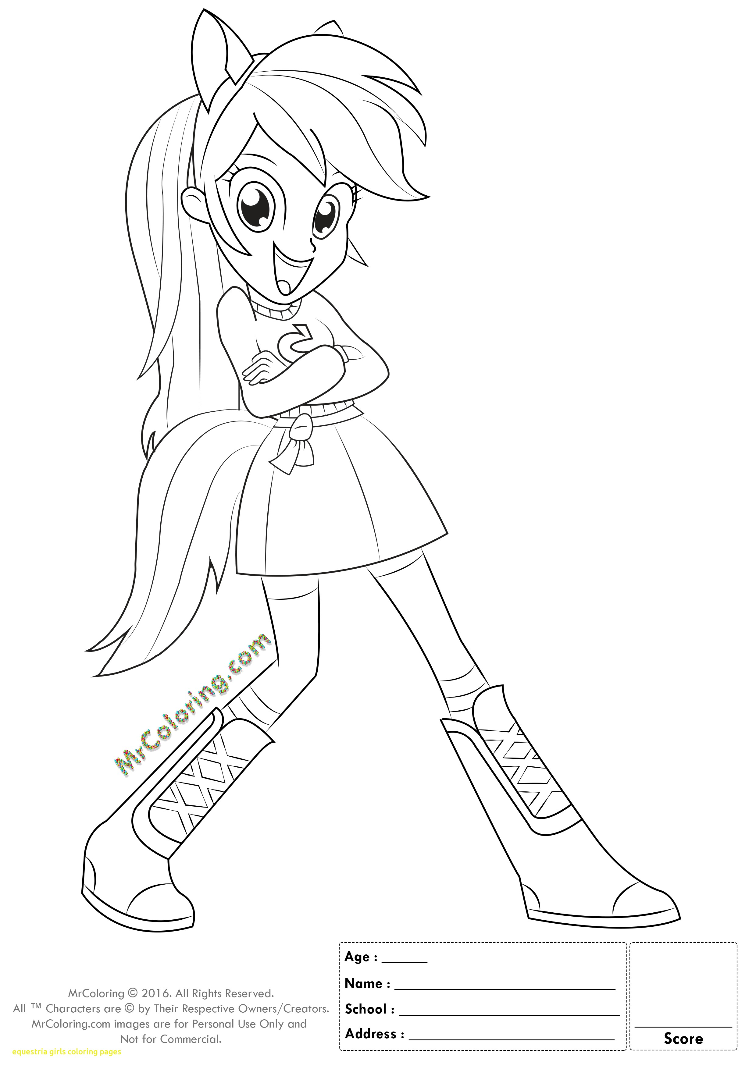 2480x3508 Equestria Girls Coloring Pages With Coloring Pages Of My Little