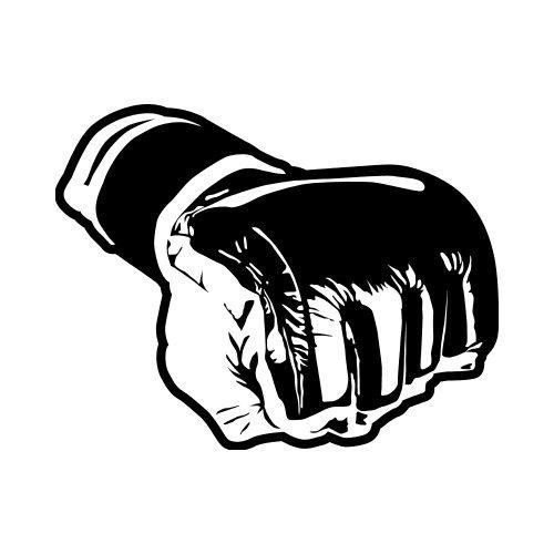 500x500 Mma Gloves 2 Clip Art