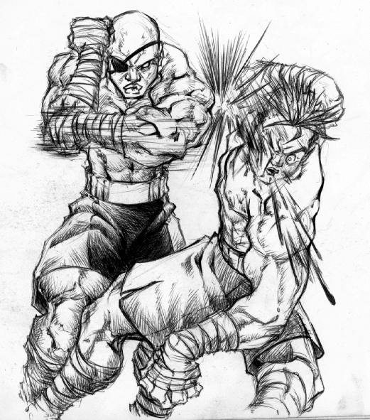 521x591 Thai Boxing With Sagat By Biggcaz On Muay Thai