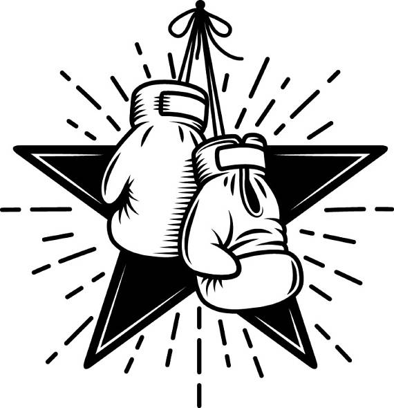 570x590 Boxing Logo 3 Gloves Star Fight Fighting Mma Mixed Martial