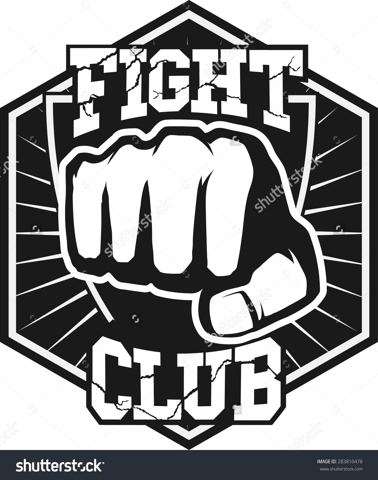 1261x1600 Fight Club Mma Ufc Mixed Martial Arts Fighting Logo Stamp