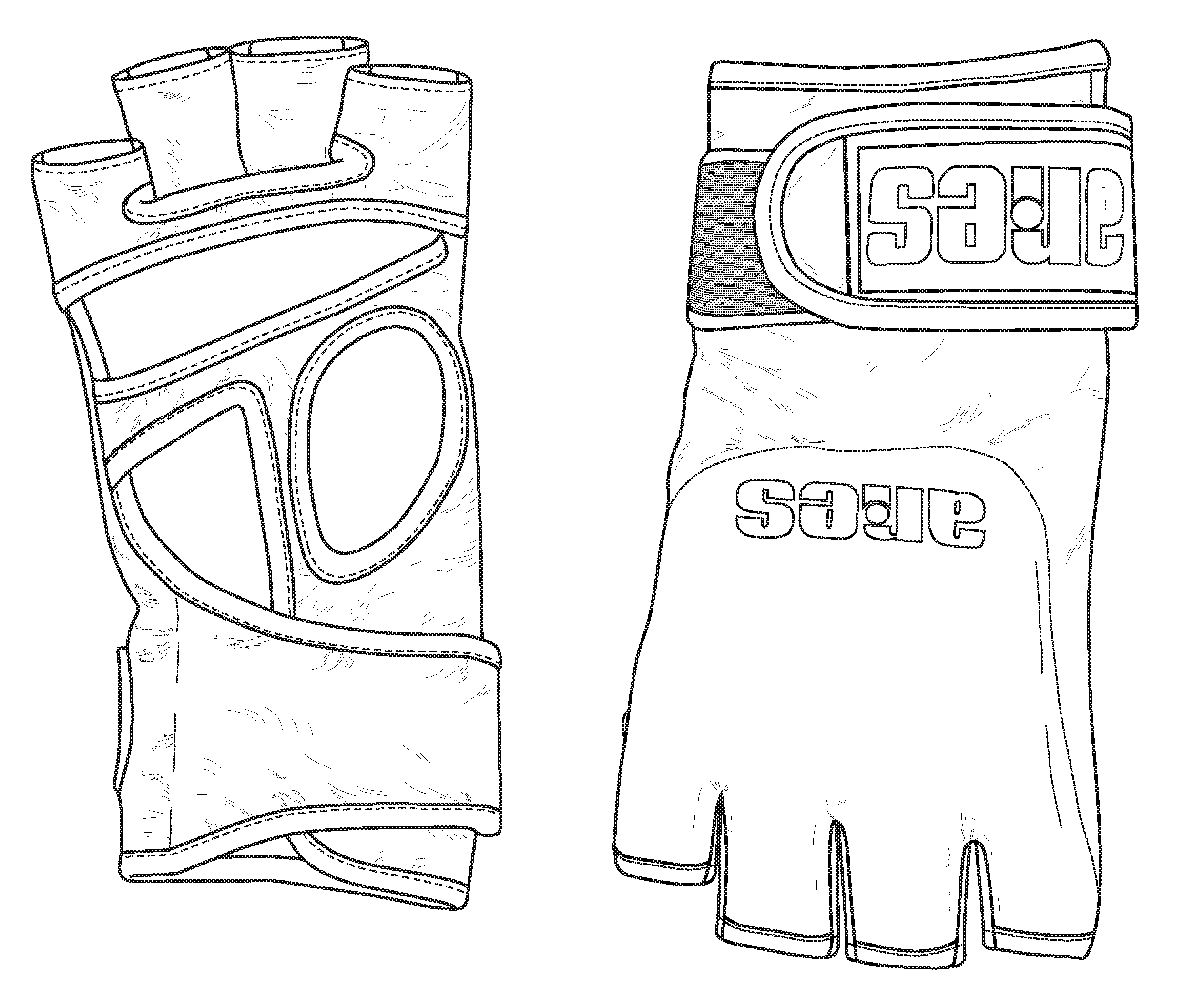 2482x2115 Mma Gloves Drawing