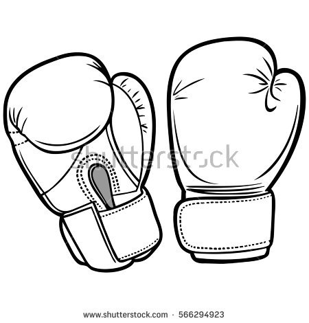 450x470 Pictures Boxing Glove Sketch,