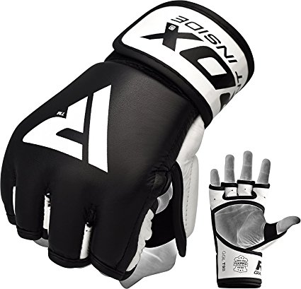 425x409 Rdx Mma Gloves Sparring Martial Arts Grappling Cowhide Leather