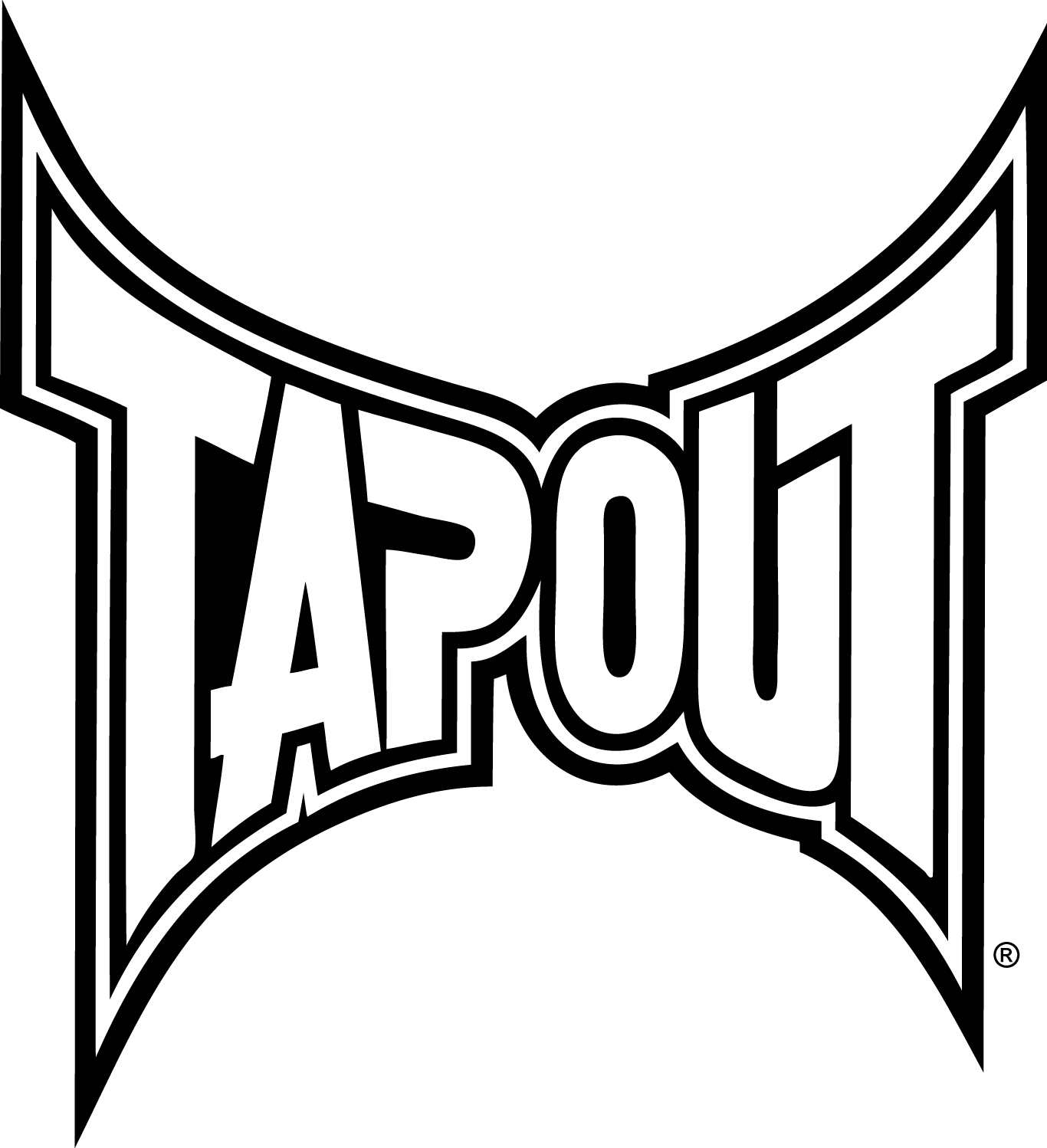 1366x1498 Tapout Logo White Ufc Tapout Logos, Ufc And Mma