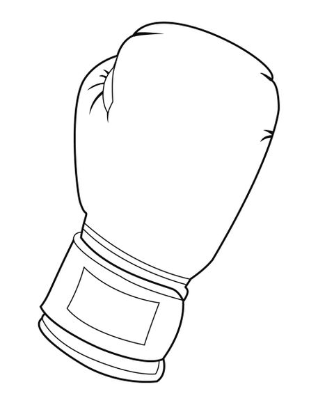 457x582 Black And White Boxing Glove' By William Rossin