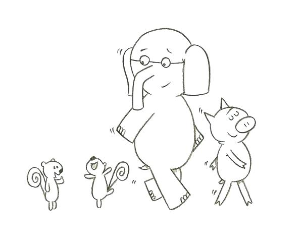 600x498 Mo Willems Coloring Pages For Kids Mo Coloring Pages Mo Willems