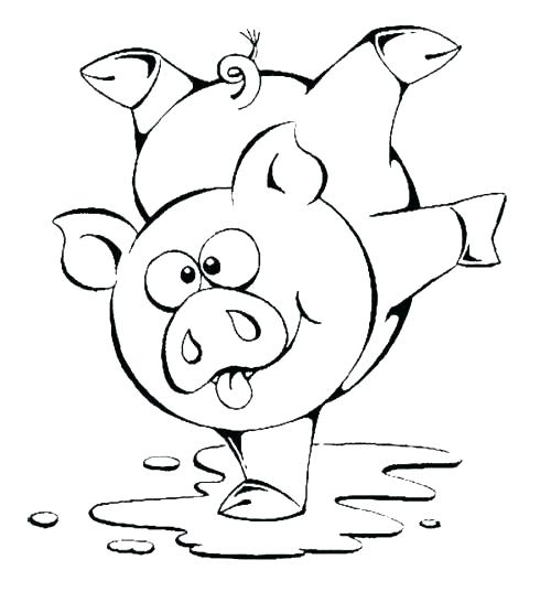500x537 Mo Willems Pigeon Coloring Page Coloring Page Pig Piglet Coloring