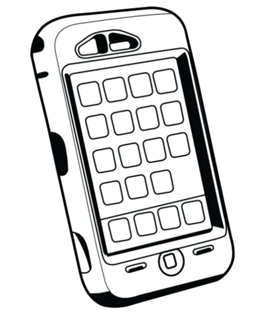 853x1024 Mobile Phone Coloring Sheets Coloring Pages