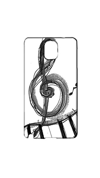 341x606 Music Symbol Drawing Mobile Back Cover Amazon.in Electronics