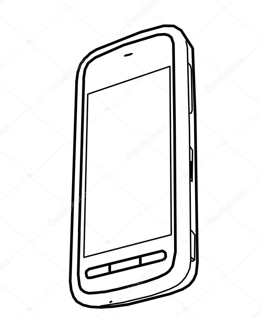 838x1024 Drawing Mobile Phone Stock Photo Vetkit
