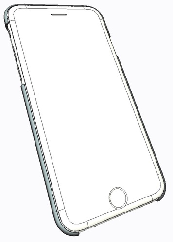 356x500 3d Printed Iphone6 Case Slim (1mm Thick) By Josephchh Pinshape