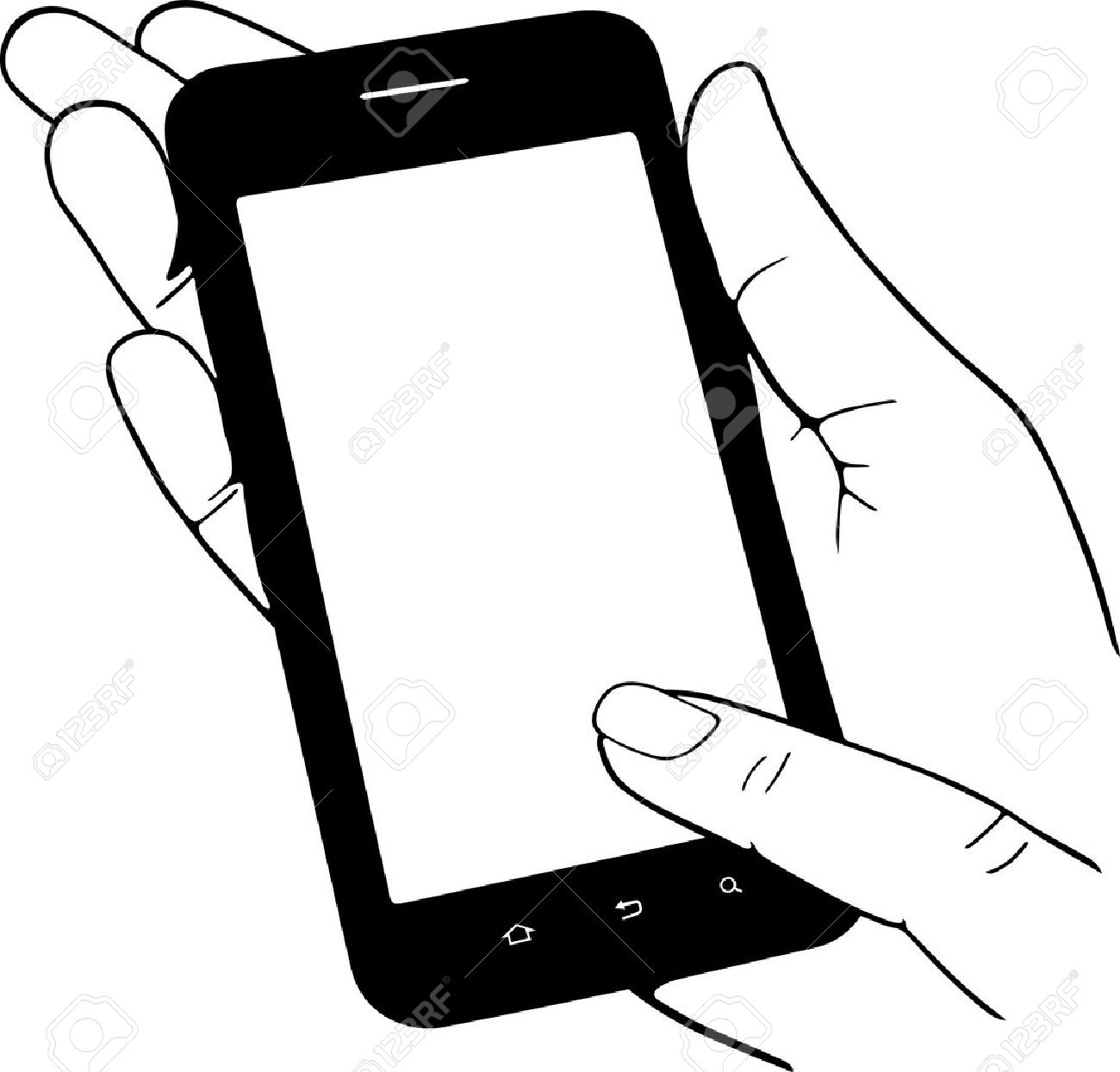 1300x1245 Mobile Phone In The Hand Royalty Free Cliparts, Vectors, And Stock