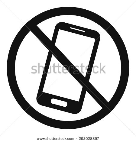 450x470 No Cell Phone Clipart Black And White