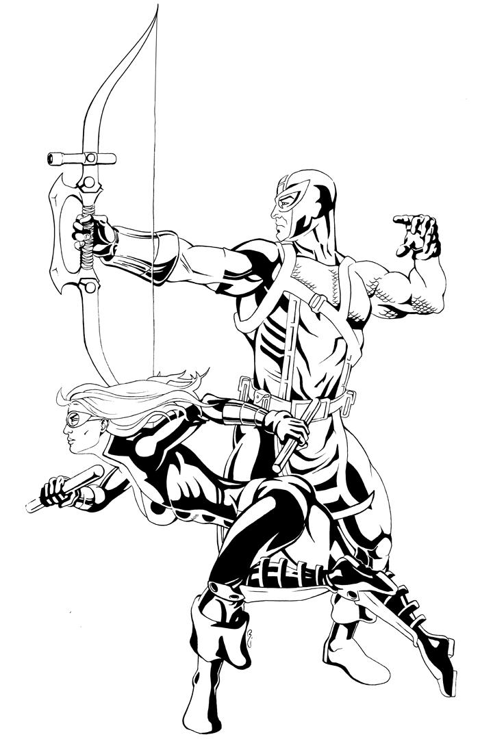 720x1080 Hawkeye And Mockingbird By Thelearningcurv