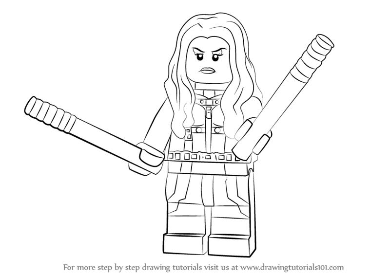 800x565 Learn How To Draw Lego Mockingbird (Lego) Step By Step Drawing