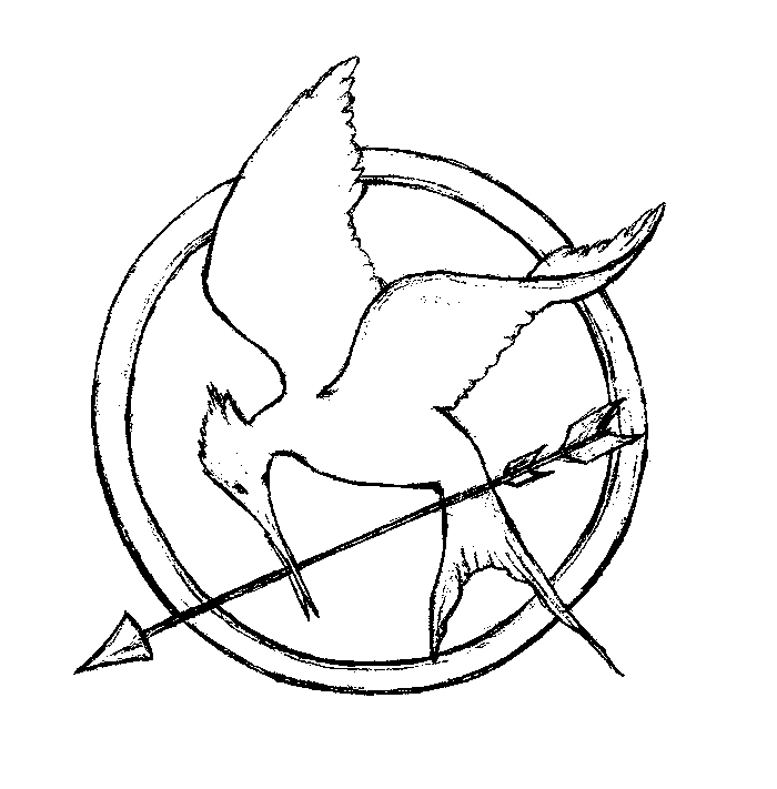 Bird Drawing Book at GetDrawings | Free download |Hunger Games Mockingjay Pin Outline