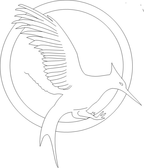 602x703 Mockingjay Outline (Incomplete) By Lurgie63