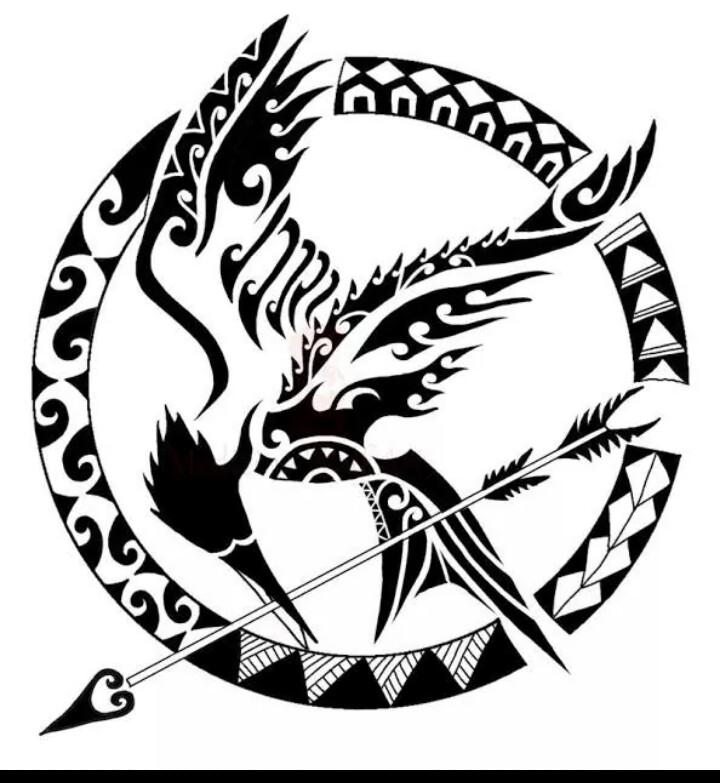 720x783 Mockingjay Tattoo. I Would Get The Mockingjay From The Last Book