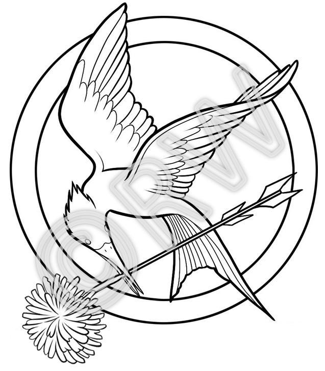 637x727 Mockingjay With Dandelion By Rawenwerwolf