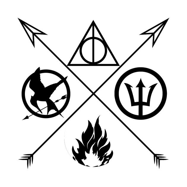 630x630 Big Four [Mockingjay, Hallows, Dauntless, Percy]