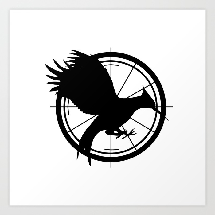 700x700 Catching Fire Mockingjay Art Print By Laurenleedesigns Society6
