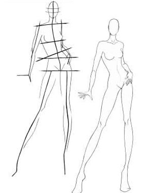 300x380 How To Draw A Model For Fashion Designs. For London Craft Ideas