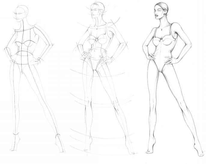 686x546 Sketching Templates Fashion Model Sketches