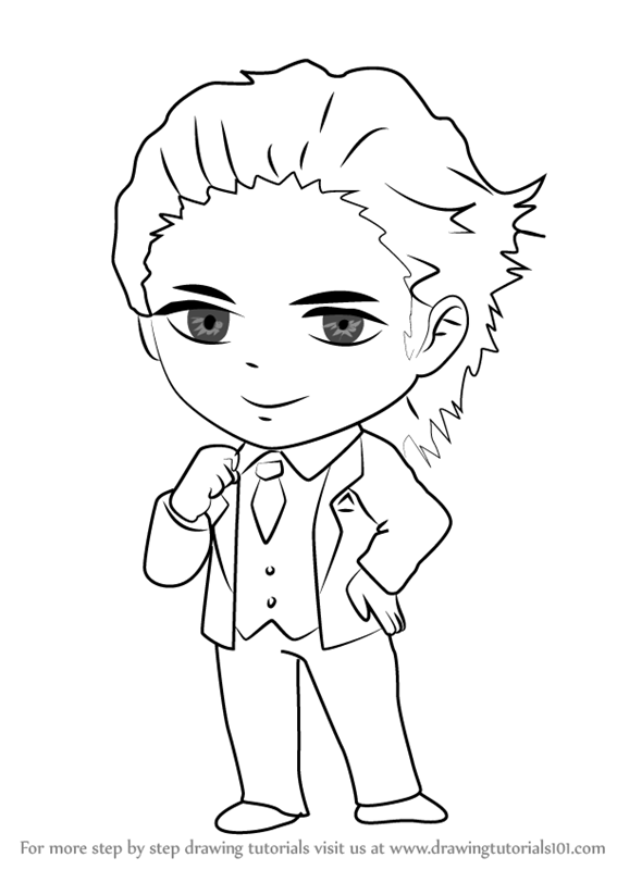 567x800 Learn How To Draw Model Guest From Mystic Messenger (Mystic