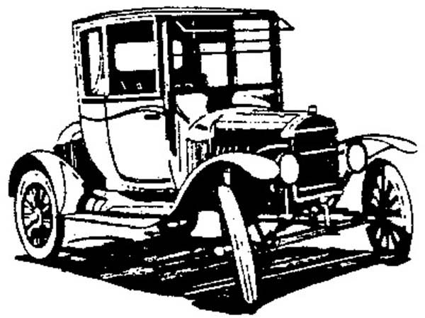600x449 Drawing Model T Car Coloring Pages Drawing Model T Car Coloring