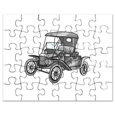 460x460 Ford Model T Puzzles, Ford Model T Jigsaw Puzzle Templates