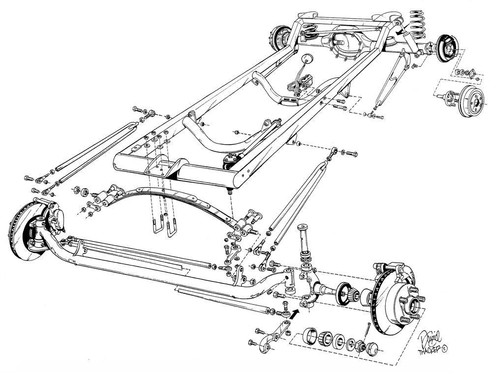 1000x758 Budget Bare Model T Frame