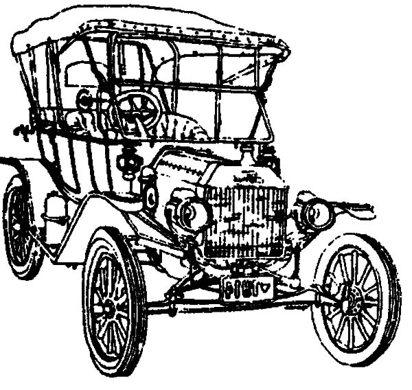 600x568 Drawing Model T Car Coloring Pages Color Luna