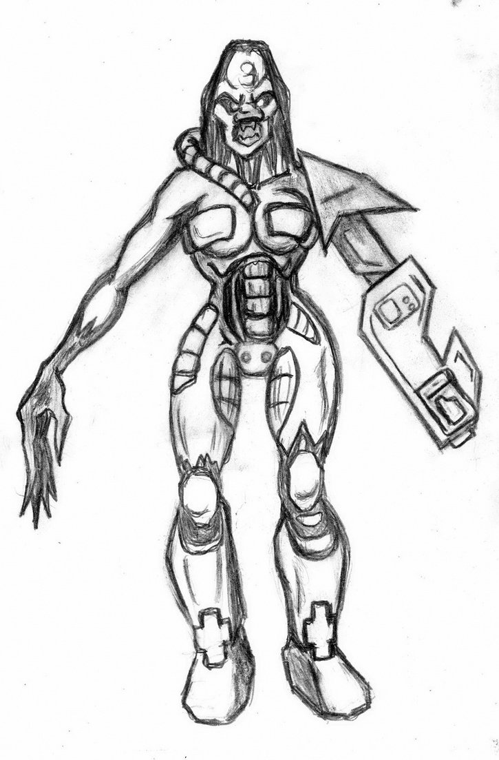 725x1103 Quake Ii Iron Maidenclassiksketch For Modeling By Murzik18