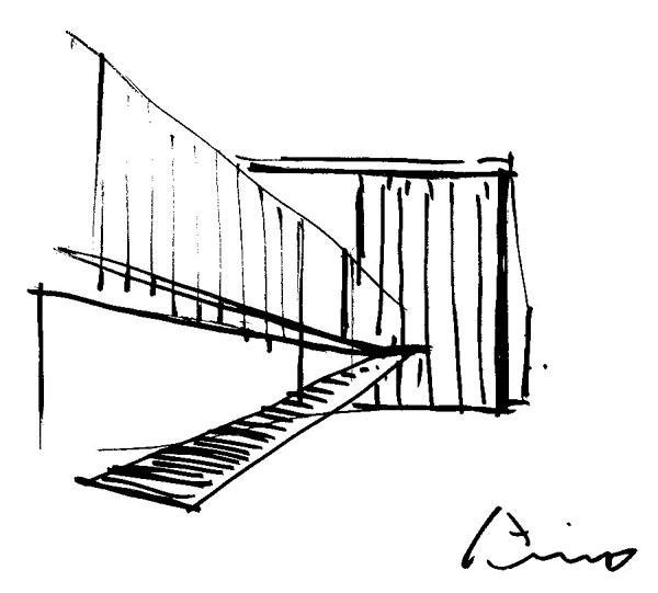 600x541 Eychaner Lee House By Tadao Ando Sketch Sketch