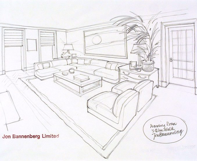 678x555 Interior Design Pencil Drawing Design Jon Bannenberg For A Drawing