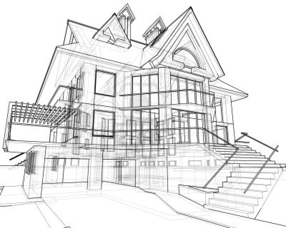 1200x960 Modern Home Architecture Sketches