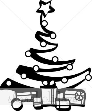 321x388 Jazzy Black And White Christmas Tree Christmas Tree Clipart