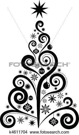 277x470 Artsy Christmas Tree Clip Art Merry Christmas Amp Happy New Year Arts