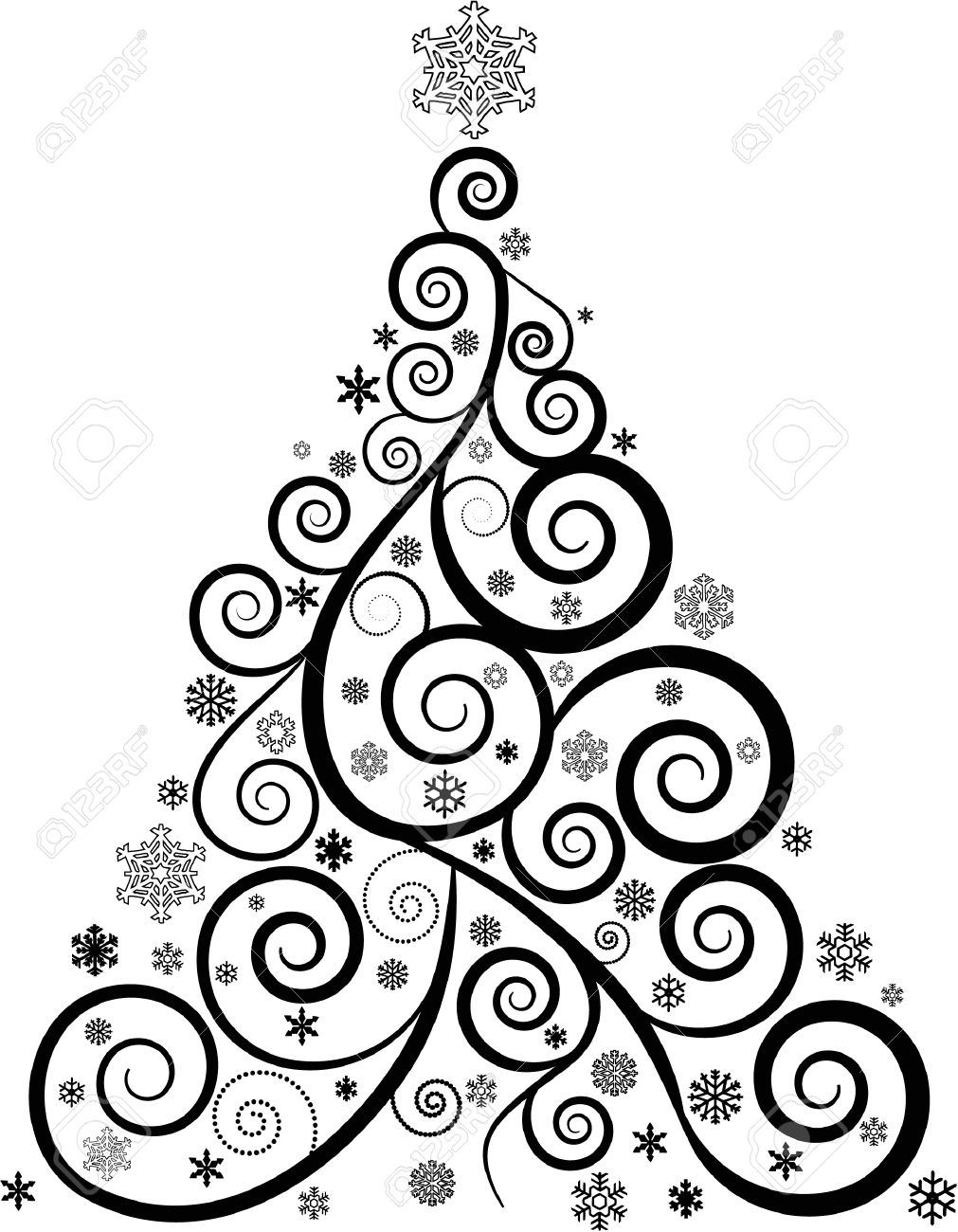 Modern Christmas Tree Drawing At Getdrawings